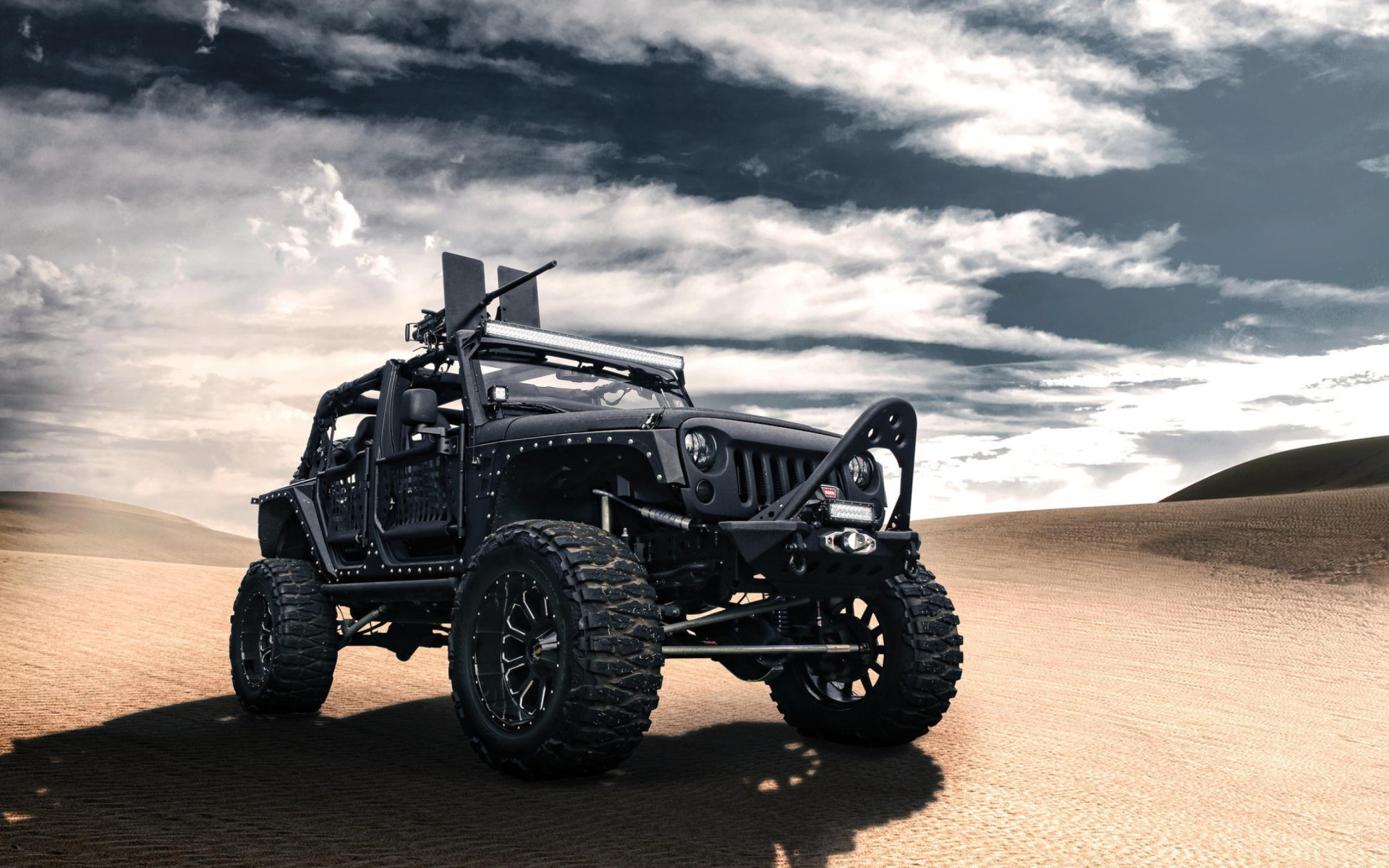 Lifted Black Jk >> Jeep Wrangler for Army Wallpaper for Widescreen Desktop PC 1920x1080 Full HD