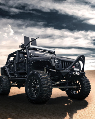 Jeep Wrangler for Army Wallpaper for iPhone 6 Plus