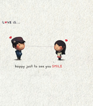 Love Is Happy Just To See You Smile Wallpaper for Nokia Asha 306