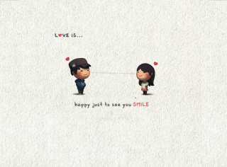 Love Is Happy Just To See You Smile Picture for Android, iPhone and iPad