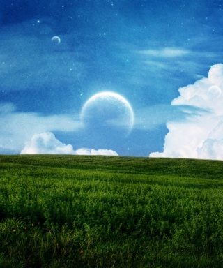 Free Sky Field Planet Picture for Nokia C2-05