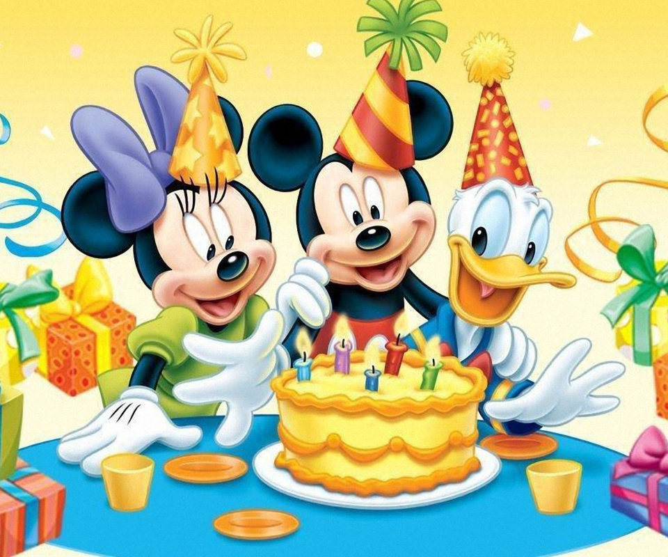 Screenshot №1 pro téma Mickey Mouse Birthday 960x800