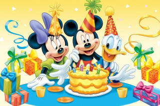 Mickey Mouse Birthday Picture for Samsung Galaxy Ace 4