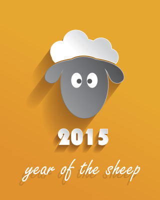 Year of the Sheep 2015 - Obrázkek zdarma pro iPhone 5C
