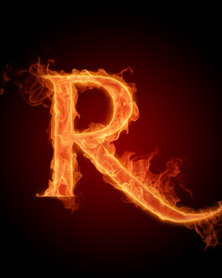 Fire Alphabet Letter R Background for Nokia C5-06