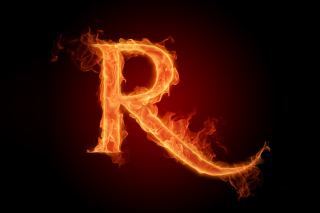 Fire Alphabet Letter R Wallpaper for Android, iPhone and iPad