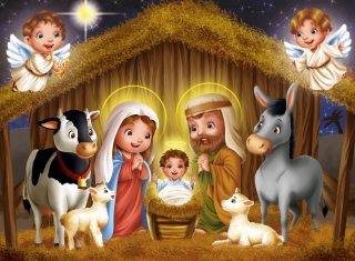 Free Baby Christ Is Born Picture for Android, iPhone and iPad