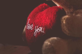 Love You Plush Bear Picture for Android, iPhone and iPad