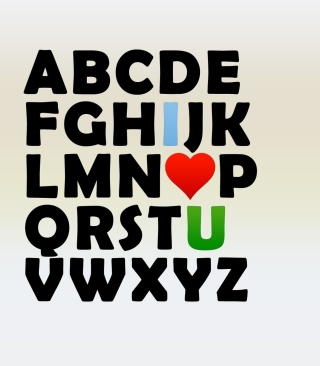 Kostenloses I Love U Alphabet Wallpaper für iPhone 5C