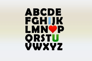 I Love U Alphabet Picture for Android, iPhone and iPad