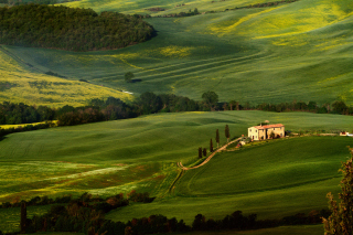 Tuscany Fields Wallpaper for Android, iPhone and iPad