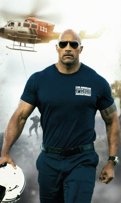 Screenshot №1 pro téma Dwayne Johnson Policeman 240x400