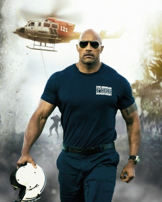 Dwayne Johnson Policeman Wallpaper for 240x320