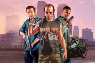 Grand Theft Auto V Band Wallpaper for Android, iPhone and iPad