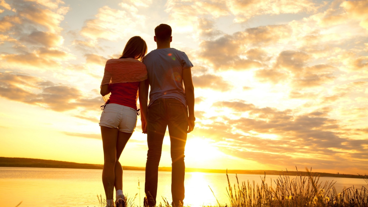 Couple Watching Sunset
