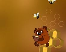 Winnie The Pooh With Honey para 220x176