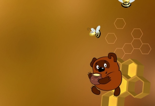Winnie The Pooh With Honey Wallpaper for Android, iPhone and iPad