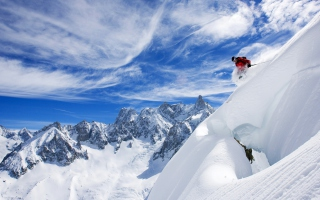 Skiing In France Wallpaper for Android, iPhone and iPad