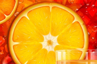 Juicy Orange Background for Android, iPhone and iPad