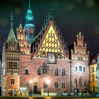 Wroclaw Town Hall Background for iPad 3