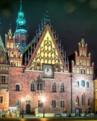 Wroclaw Town Hall Background for Nokia Asha 311