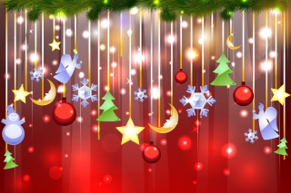 Christmas Decorations Background for Android, iPhone and iPad