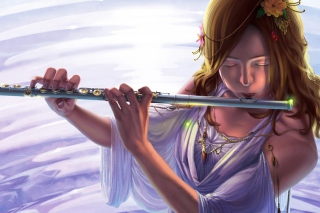 Musical Instrument Flute Background for Android, iPhone and iPad