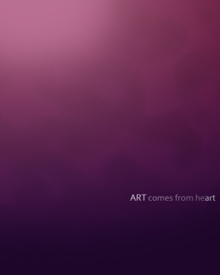 Simple Texture, Art comes from Heart Picture for 320x480