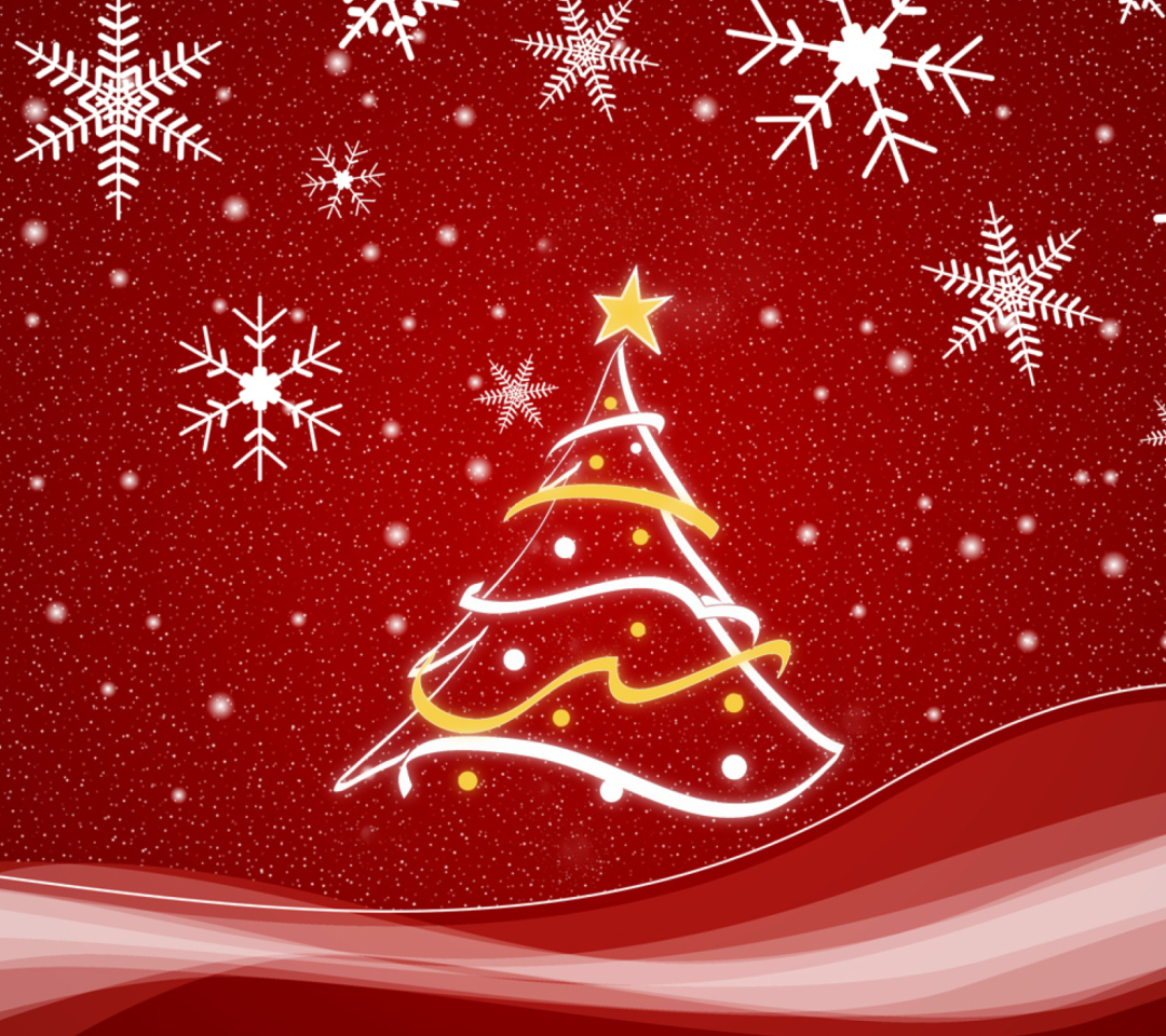 Christmas Tree wallpaper 1080x960