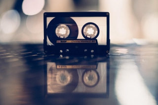 Compact Audio Cassette BASF Background for Android, iPhone and iPad