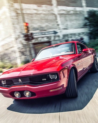 Equus Bass770 Muscle Car Background for iPhone 5