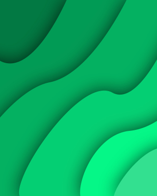 Green Waves Background for iPhone 4S