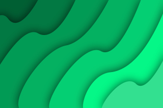 Green Waves Wallpaper for Android 1600x1280