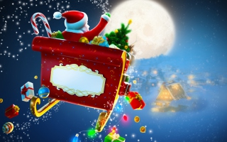 Free Ho Ho Ho Santa Is Coming Picture for Android, iPhone and iPad