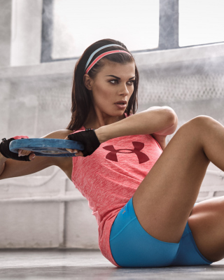 Free Fitness Workout Sporty Cute Girl Picture for 240x320