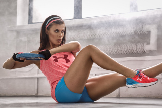 Fitness Workout Sporty Cute Girl Wallpaper for Nokia XL