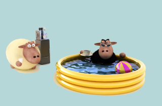 Sheep In Pool sfondi gratuiti per cellulari Android, iPhone, iPad e desktop