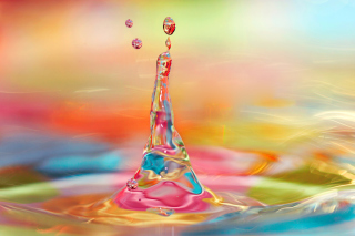 Colorful Drops Wallpaper for Android, iPhone and iPad