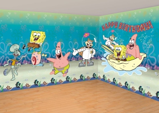 Spongebob Happy Birthday Background for Android, iPhone and iPad