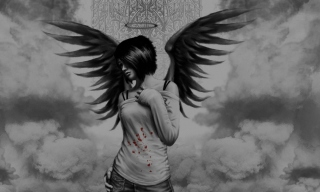 Dark Angel Background for Android, iPhone and iPad