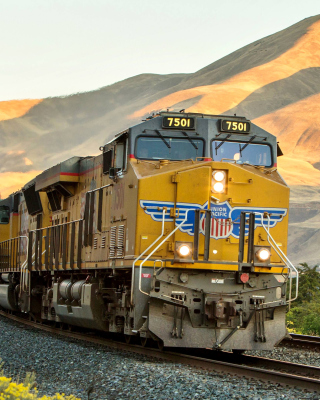 Kostenloses Union Pacific Train Wallpaper für 320x480