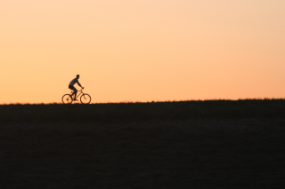Bicycle Ride In Field Wallpaper for Android, iPhone and iPad