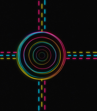 Hypnotic Neon Lights Background for Nokia C1-01