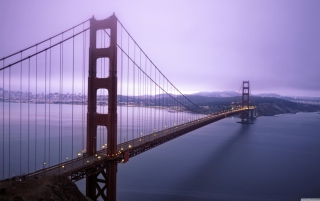 Fog Surround Golden Gate Picture for Android, iPhone and iPad