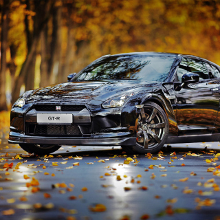 Nissan GT R in Autumn Forest Background for Nokia 6100