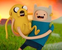 Adventure Time - Finn And Jake para 220x176