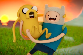 Adventure Time - Finn And Jake - Obrázkek zdarma pro LG P500 Optimus One