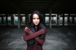 Angelina Petrova Brunette Girl Picture for HTC EVO 4G