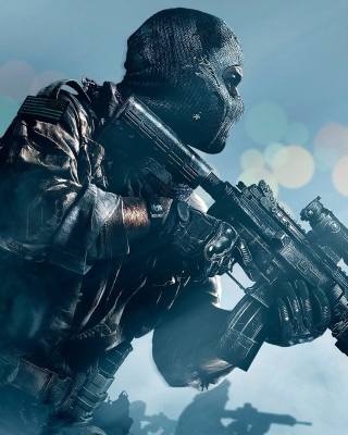 Картинка Soldier Call of Duty Ghosts на телефон Nokia Asha 503