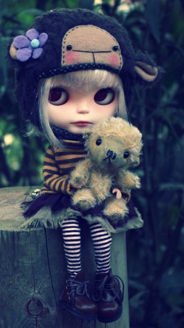 Cute Doll With Teddy Bear